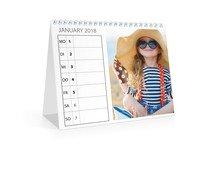 Wochen-Tischkalender A5  Quer - Weiß (170x140 Tischkalender)