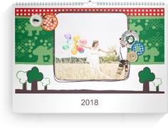 Fotokalender Countryside 4 - Weiß (A4 Querformat)