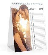 Monats-Tischkalender Hoch - Weiß (140 x 170 Tischkalender)