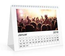 Monats-Tischkalender Quer - Weiß (170x140 Tischkalender)