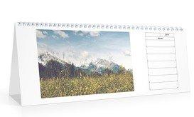 Wochen-Tischkalender Quer - Weiß (297x105 Tischkalender)
