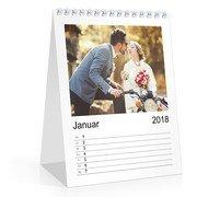 Wochen-Tischkalender A5 Hoch - Weiß (140 x 170 Tischkalender)