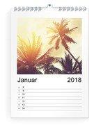 Wochen-Wandkalender 17x24 Hoch - Schwarz (170x240 A4 Wandkalender Hoch)