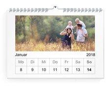 Wochen-Wandkalender 24x17 Quer - Weiß (240x170 A4 Wandkalender Quer)