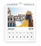 Wochen-Wandkalender A5 14x17 Hoch - Rot (140x170 A5 Wandkalender Hoch)