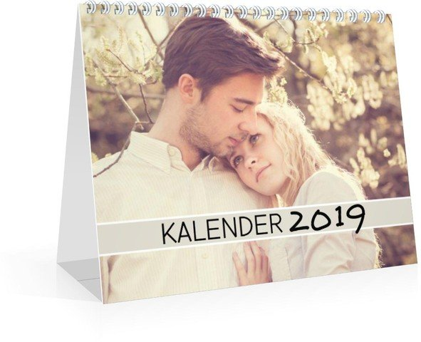 Kalender Wochen-Tischkalender Farbenspiel 2019 Vorschau Deckblatt öffnen