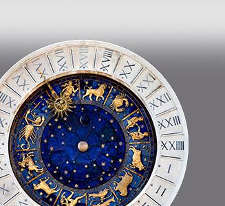 Römischer Kalender mit Sternzeichen