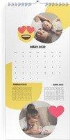 Calendar 3 Monats Kalender Smiley 2022 page 4 preview