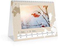 Calendar Wochen-Tischkalender Reisefieber 2022 page 3 preview
