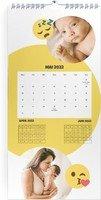 Calendar 3 Monats Kalender Smiley 2022 page 6 preview