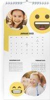 Calendar 3 Monats Kalender Smiley 2022 page 2 preview