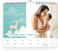 Wochen-Wandkalender Hochhinaus - Weiß (170x140 Wochen-Wandkalender Quer)