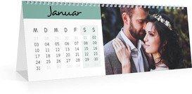 Monatskalender Hoch Farbenspiel - Weiß (297x105 Monats-Tischkalender)
