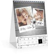 Wochen-Tischkalender Schnappschuss - Weiß (140 x 170 Wochen-Tischkalender)