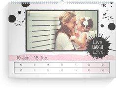 Wochenkalender Herzallerliebst - Weiß (240x170 Wochen-Wandkalender Quer)