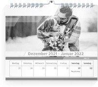 Wochenkalender Minimalistisch - Weiß (170x140 Wochen-Wandkalender Quer)