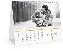 Tischkalender Marmor - Weiß (170x140 Monats-Tischkalender)