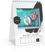 Wochen-Tischkalender Trendig - Weiß (140 x 170 Wochen-Tischkalender)