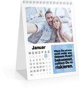 Monatskalender Anregung - Weiß (140 x 170 Monats-Tischkalender)