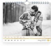 Wochen-Wandkalender Marmor - Weiß (170x140 Wochen-Wandkalender Quer)