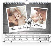 Wochen-Wandkalender Schnappschuss - Weiß (170x140 Wochen-Wandkalender Quer)