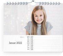 Wochen-Wandkalender Blanko Notizen - Weiß (170x140 Wochen-Wandkalender Quer)