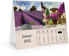 Monats-Tischkalender Tintenklecks - Weiß (170x140 Monats-Tischkalender)