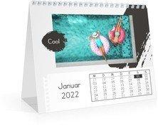 Monats-Tischkalender Trendig - Weiß (170x140 Monats-Tischkalender)