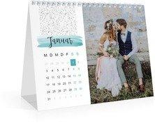 Monatskalender Tagträumer - Weiß (170x140 Monats-Tischkalender)
