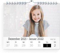 Wochen-Wandkalender Blanko - Weiß (170x140 Wochen-Wandkalender Quer)
