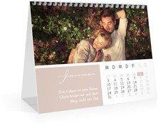 Monatskalender Spruchsammlung - Weiß (170x140 Monats-Tischkalender)