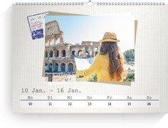 Wochenkalender Reisefieber - Weiß (240x170 Wochen-Wandkalender Quer)