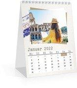 Monats-Tischkalender Reisefieber - Weiß (140 x 170 Monats-Tischkalender)
