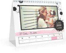 Wochen-Tischkalender Herzallerliebst - Weiß (170x140 Wochen-Tischkalender)