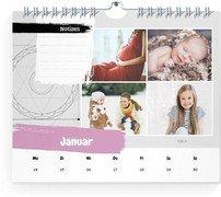 Wochen-Wandkalender Mandalatraum - Weiß (170x140 Wochen-Wandkalender Quer)