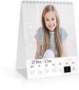 Tischkalender Blanko - Weiß (140 x 170 Wochen-Tischkalender)