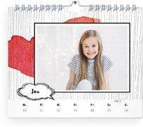 Wochenkalender Gestrichelt - Weiß (170x140 Wochen-Wandkalender Quer)