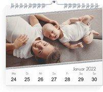 Wochen-Wandkalender Ethnoschick - Weiß (170x140 Wochen-Wandkalender Quer)