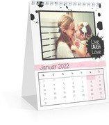 Monats-Tischkalender Herzallerliebst - Weiß (140 x 170 Monats-Tischkalender)