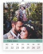 Wochen-Wandkalender Farbenspiel - Weiß (140x170 Wochen-Wandkalender Hoch)