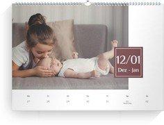 Wochen-Wandkalender Zahlenschild - Weiß (240x170 Wochen-Wandkalender Quer)