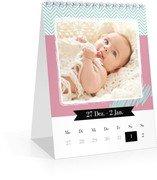Wochen-Tischkalender Kunterbunt - Weiß (140 x 170 Wochen-Tischkalender)