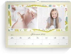 Wochenkalender Blumenfest - Weiß (240x170 Wochen-Wandkalender Quer)