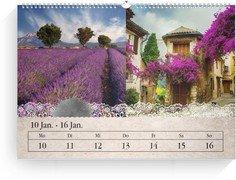 Wochenkalender Tintenklecks - Weiß (240x170 Wochen-Wandkalender Quer)
