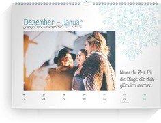 Wochen-Wandkalender Schnörkeltraum - Weiß (240x170 Wochen-Wandkalender Quer)