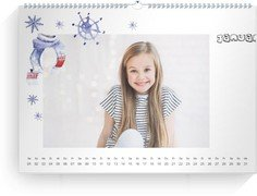Wandkalender bunte Mischung - Weiß (A3/A4/A5 Querformat)