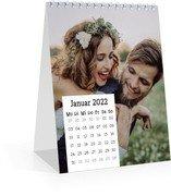 Tischkalender Quadrat - Weiß (140 x 170 Monats-Tischkalender)