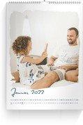 Wandkalender Zeit für Leichtigkeit - Weiß (A3/A4/A5 Hochformat)