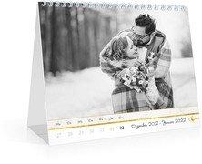 Tischkalender Marmor - Weiß (170x140 Wochen-Tischkalender)
