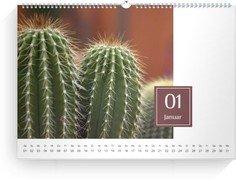 Wandkalender Zahlenschild - Weiß (A3/A4/A5 Querformat)